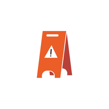Caution floor stand vector illustration Ilustrace
