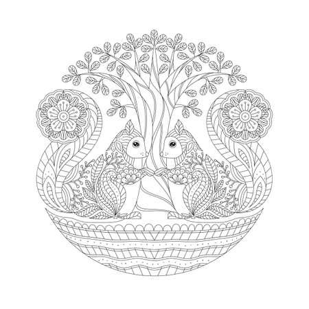 Intricate squirrel design