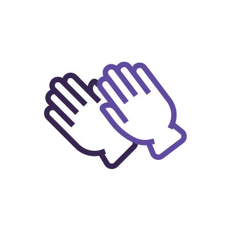Washing gloves vector illustration