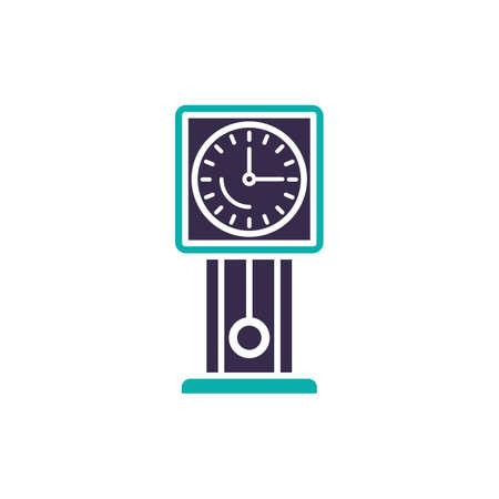 Grandfather clock vector illustration Illustration