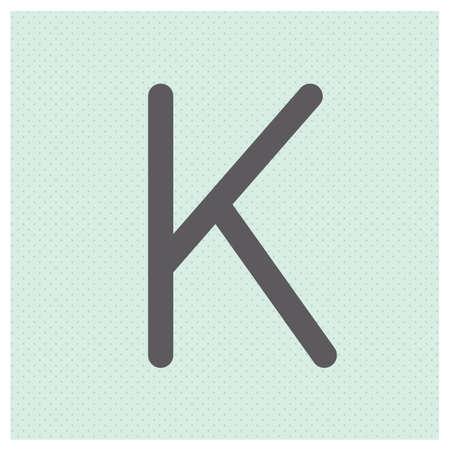 basic letters: Letter K vector illustration