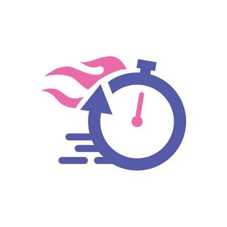 最速タイム  イラスト・ベクター素材