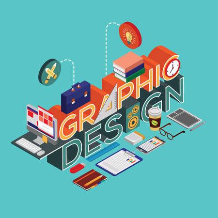 Graphic design lettering design