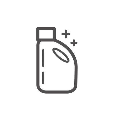 Detergent bottle vector illustration