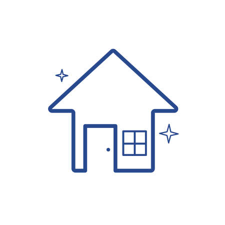 Clean house vector illustration