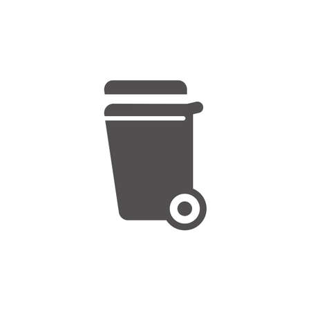 Rubbish bin vector illustration