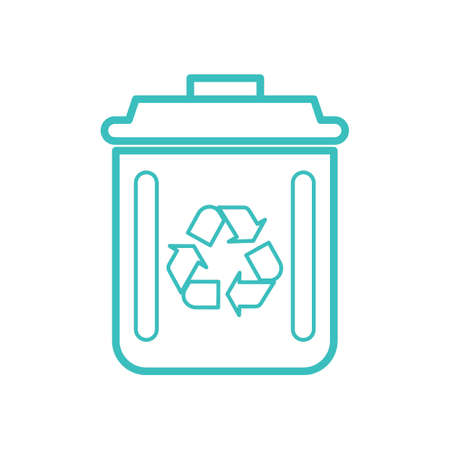 Recycle bin vector illustration