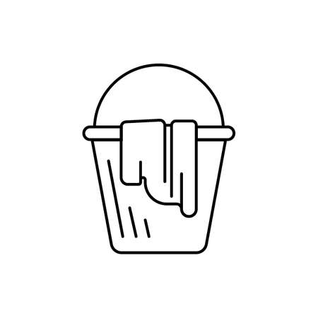 Bucket of water and towel
