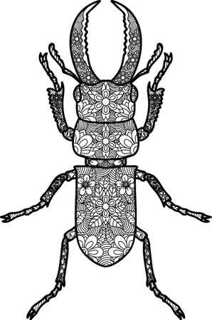 Intricate stag beetle design