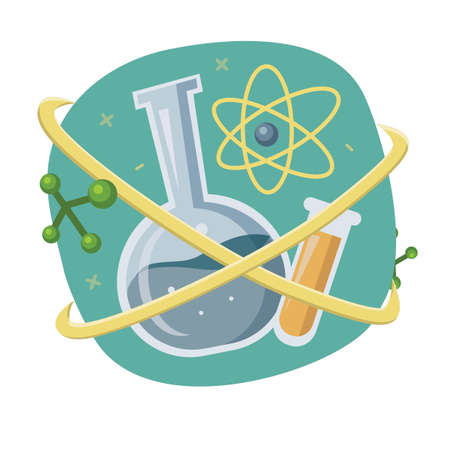 Science concept vector illustration Иллюстрация