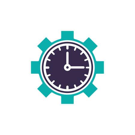 seconds: clock cogwheel design Illustration