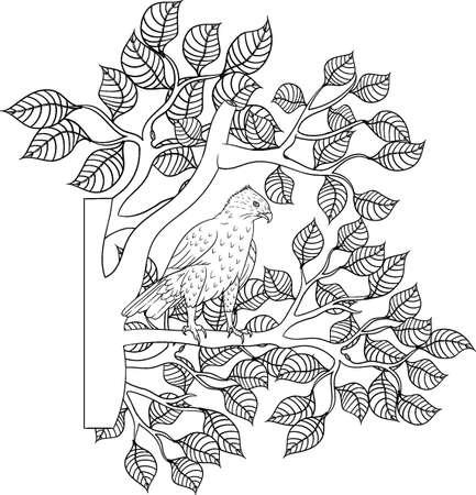 Intricate eagle design Stock Vector - 77437021