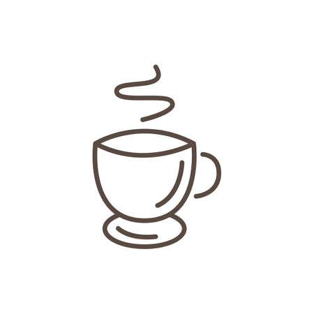 Cup of coffee minimalistic vector illustration