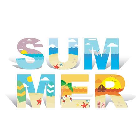 Summer lettering design Imagens - 77389357