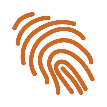 Thumbprint outline vector illustration