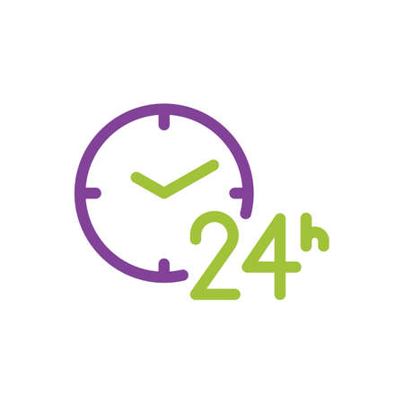 seconds: 24 hours icon