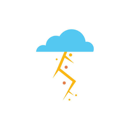 Thunderstorm vector illustration Illustration