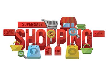 Super sale shopping lettering design