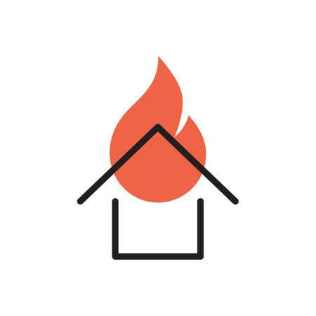 Casa in fiamme Archivio Fotografico - 77410435