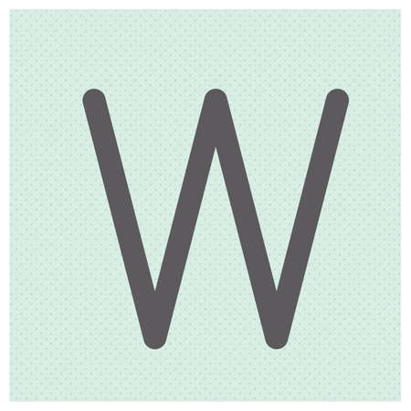 Letter W alphabet vector illustration