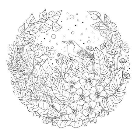 Intricate bird design 版權商用圖片 - 77437128