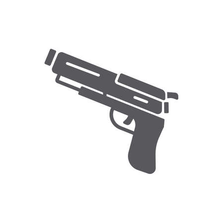 Handgun simple vector illustration Иллюстрация