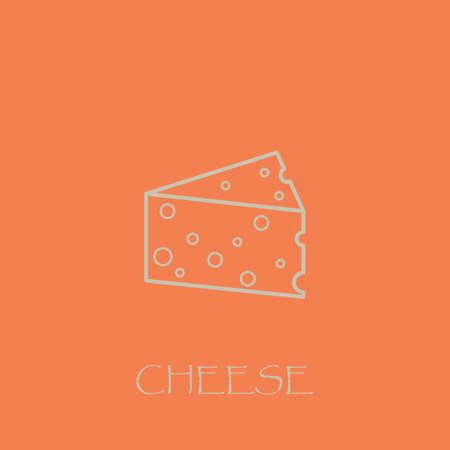 ピンクの背景とチーズ ホワイト ブロック概要