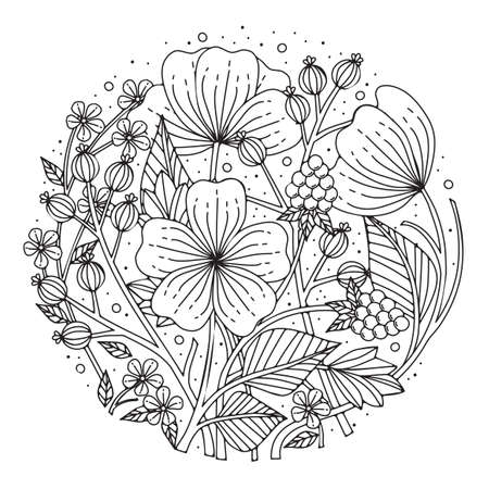 intricate floral design Иллюстрация