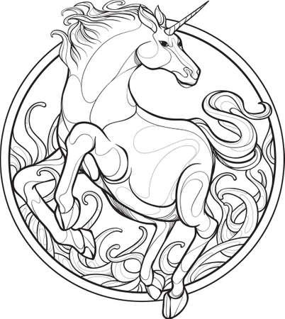 Unicorn vector illustration design