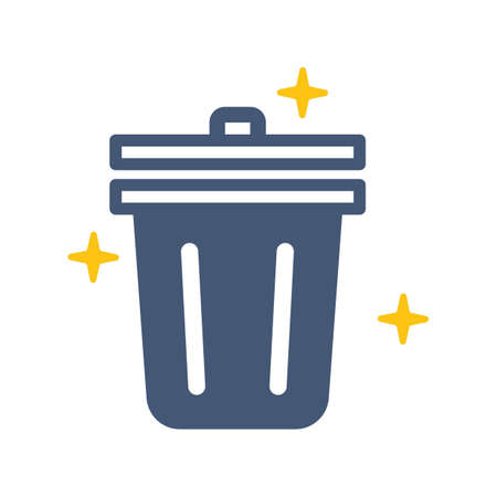 Glowing trash can vector illustration Illustration