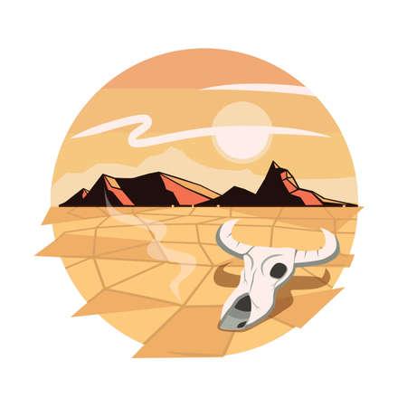drought concept Illusztráció