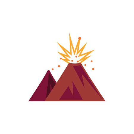 Volcanic eruption vector illustration