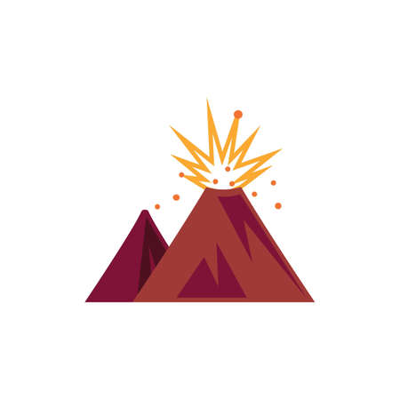 Volcanic eruption vector illustration Stock Vector - 77437237