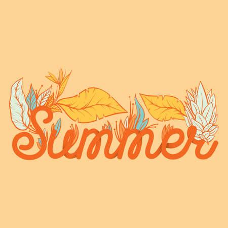 summer lettering design