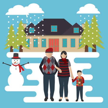 Family outing vector illustration