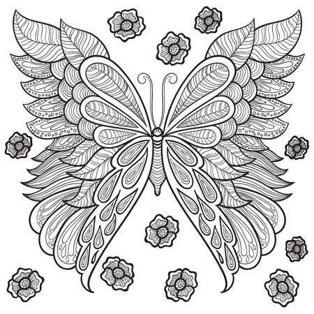 intricate butterfly design Imagens - 77389867
