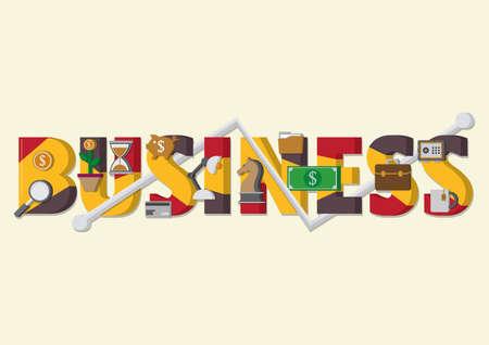 business lettering design Illustration