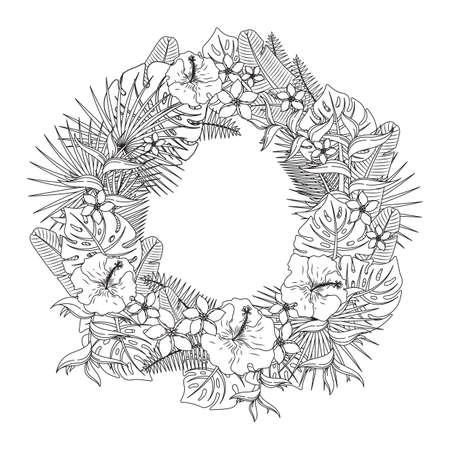 Intricate flower wreath design