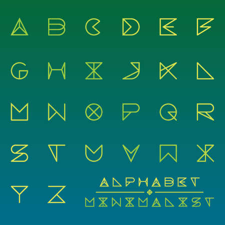 Collection of minimalist alphabets set Illustration