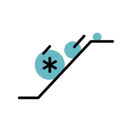 Lawine eenvoudige vector illustratie