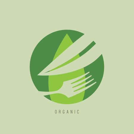 有機食品のデザイン。