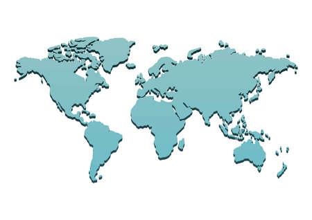 Wereld atlas ontwerp Stock Illustratie