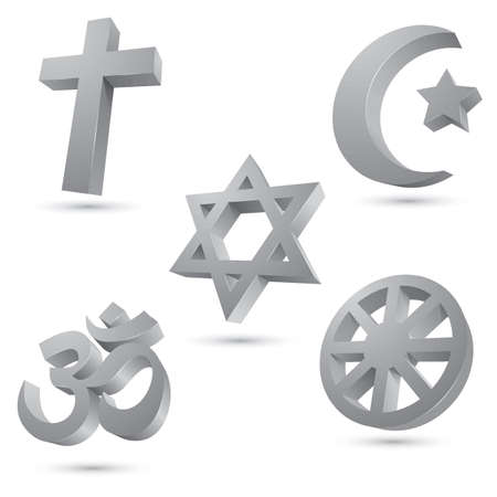 nirvana: Compilation of symbols of different religions.