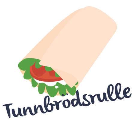 tunnbrodsrulle Illustration