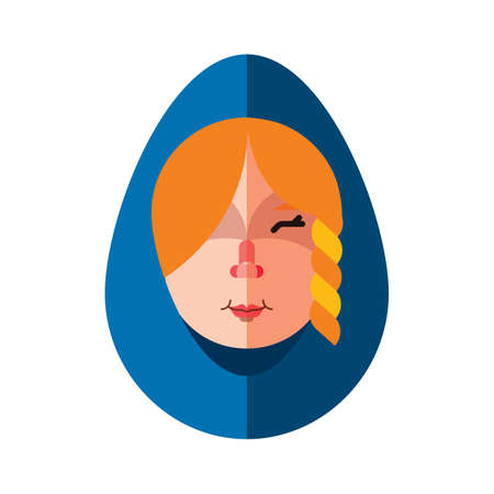 Religious woman Illustration