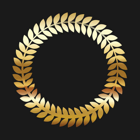 Laurel wreath set Ilustrace