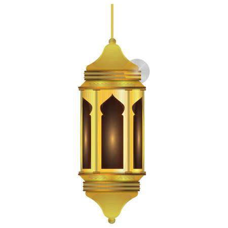 arabic lamp Ilustrace