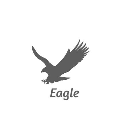 silhouette of eagle flying Illustration