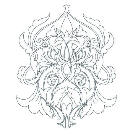 Indian rangoli design Ilustrace
