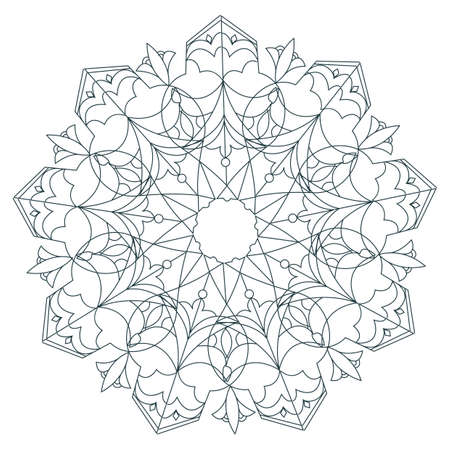 Indian rangoli design Иллюстрация